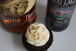 Christmas Ale cupcakes with bottles 2014