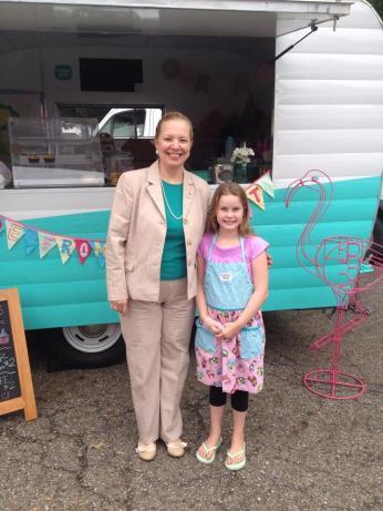 Carrie and Mayor Ann