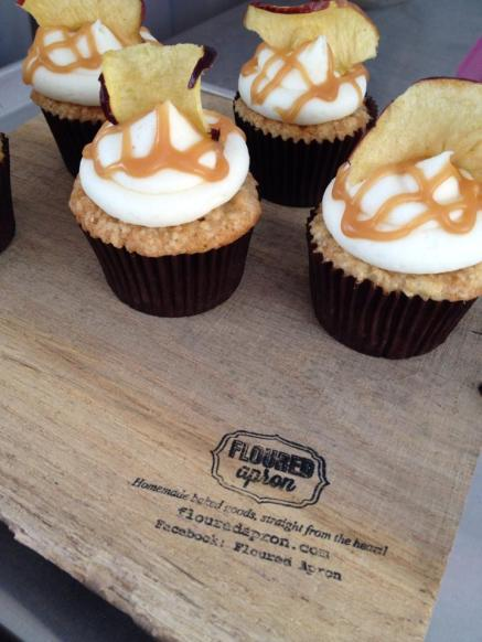 Crocker Park Caramel Apple Cupcakes
